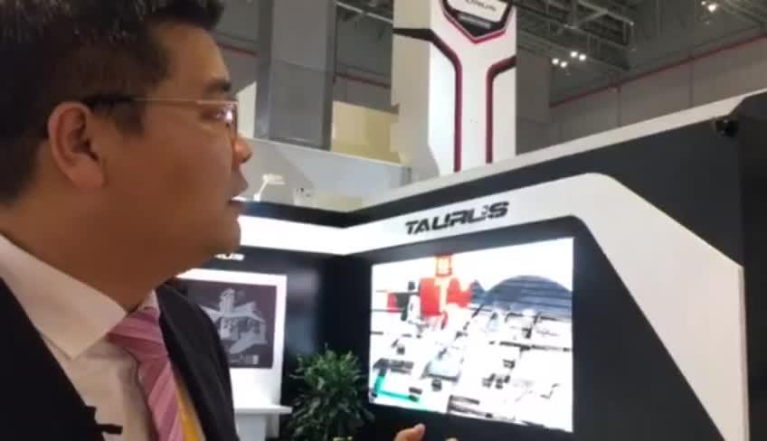 德国瓦德里希科堡机床北京代表处副总经理 高级销售经理孙光俊先生介绍本次展会的亮点:金牛座龙门铣
